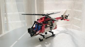 乐高42092救援直升机图片展示(卡车|轮胎|底盘|履带轮|齿轮)
