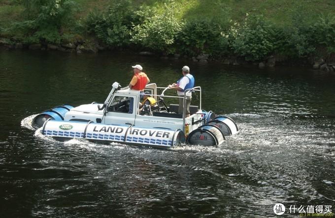 Land Rover90改装两栖艇