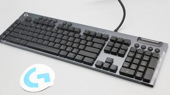 罗技G813游戏机械键盘图片外观(按键|指示灯|防滑垫|脚撑|键帽)