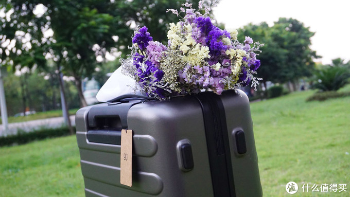 行李箱也能成为生活中的一道风景线