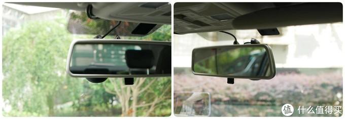 装上后视镜后,无论是主驾还是副驾的视线都没有遮挡。