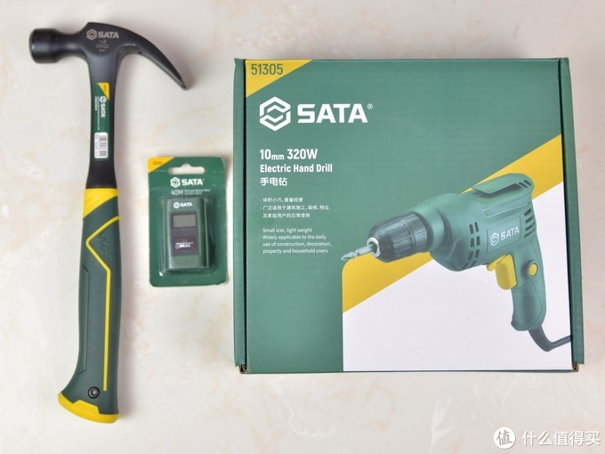 工欲善其事,必先利其器,SATA世达手电钻,羊角锤,激光测距仪体验