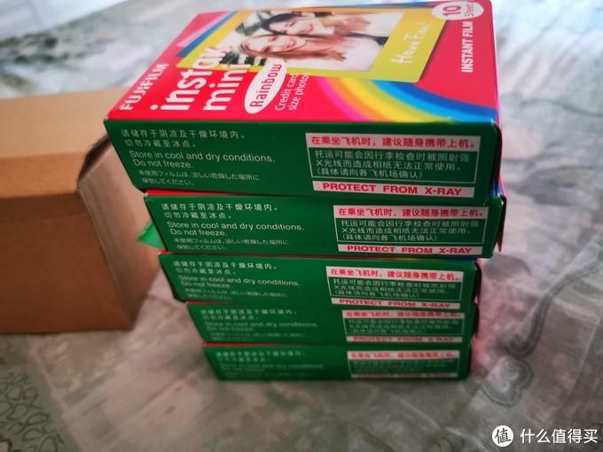五盒彩虹相纸