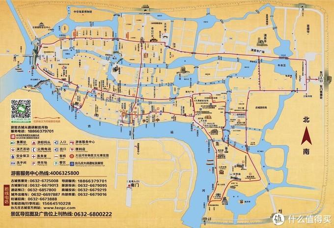 古城游览图,四个小时只能绕外围转一圈
