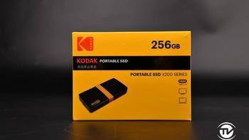 柯达X200 SSD固态移动硬盘外观图片(接口|logo|规格|指示灯|壳体)