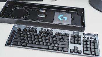 罗技G913机械键盘图片外观图(按键|指示灯|防滑垫|脚撑|键帽)