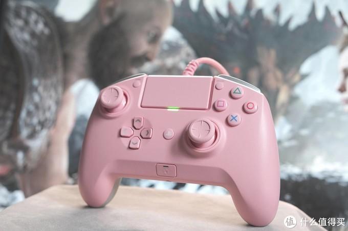 雷蛇 RAIJU飓兽竞技粉晶版PS4手柄