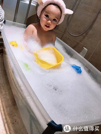 网红儿童浴盆上新:我比林志颖先用升级款