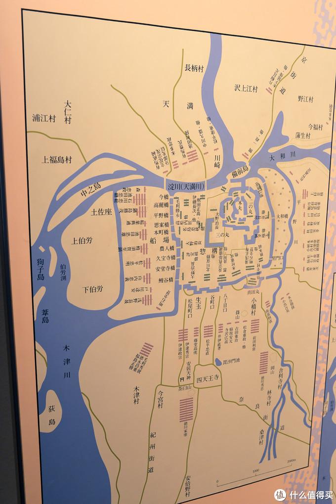 冬之阵地图,此时德川家康的本阵设置在茶臼山。是一个围攻大阪城的态势。也可以看得到真田丸的位置。在城的南侧。