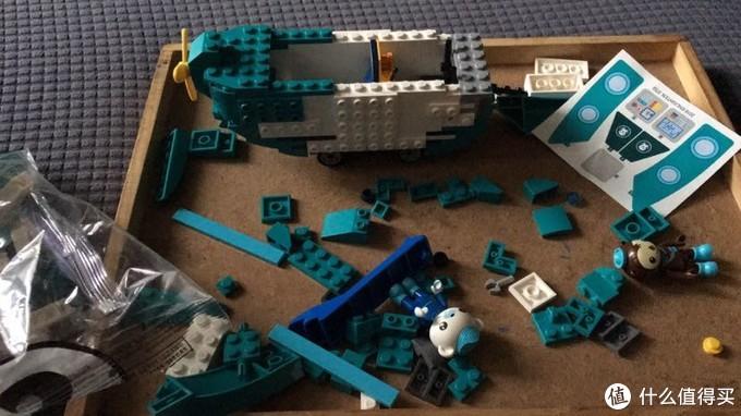 启蒙海底小纵队 3703 灯笼鱼艇 拼装,享受亲子时光