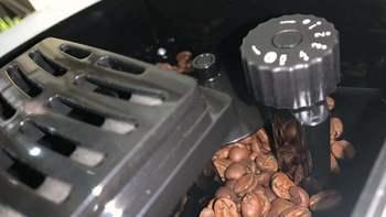 圣图M5-2全自动咖啡机外观展示(豆仓|旋钮|水箱|奶沫器)