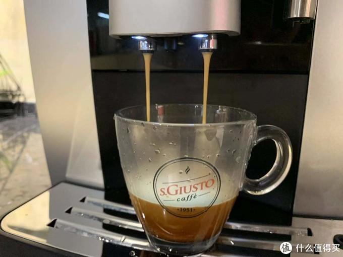 圣图全自动咖啡机的意式咖啡出品