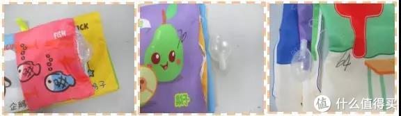 ▲3款婴幼儿布书拉力测试出现小零件脱落示意图