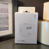 米家魔方插座转换器外观展示(USB口|开关|插孔)