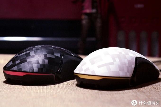 激光咬花纹理、办公游戏两种模式,镭拓F102鼠标开个箱