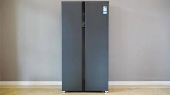 美的630冰箱外观图片(玻璃面板|触摸键|冷藏室|变温室|冷冻室)