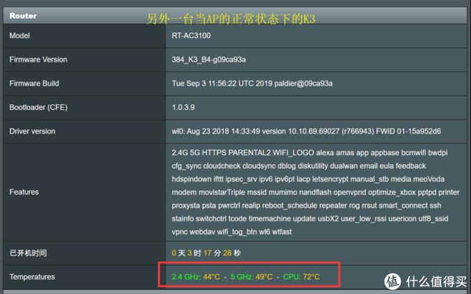 正常状态下的K3,没有风扇等,CPU温度超过70摄氏度!