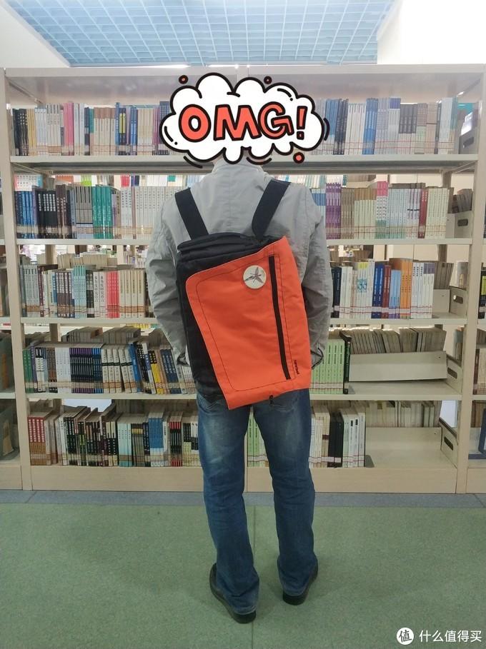 图书馆猿の迪卡侬 (DECATHLON) 单肩双肩两用包背包 简单晒