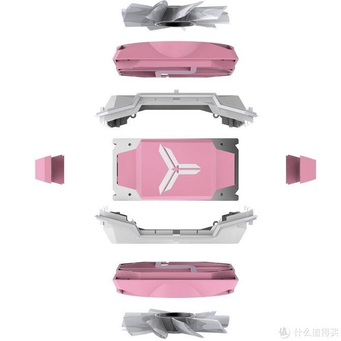 """萌妹专属:JONSBO 乔思伯 发布 CR-1100 Pink """"樱花粉"""" 高端散热器"""
