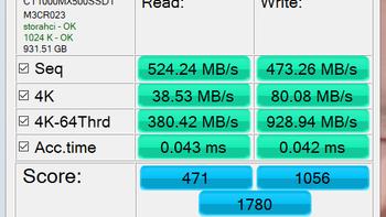 英睿达固态硬盘使用测试(配置 seq 碎片整理 分区 系统)