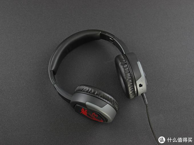 折叠便携、佩戴舒适,MSI微星GH30电竞耳机