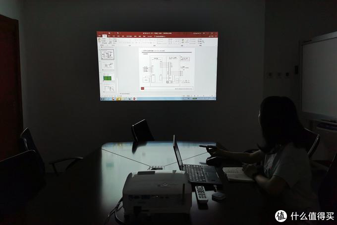 传统与现代商务投影的画质对比,明基E580T不仅智能,画面更清晰