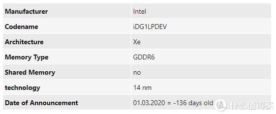 25W黑科技:intel 英特尔 Xe DG1 移动版独立显卡 首次亮相