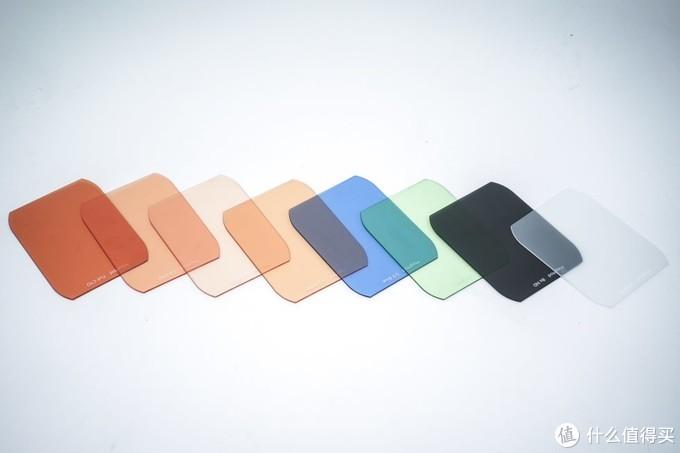 色片(标准版,3个CTO、绿、蓝、稻草黄、柔光片、减光片)