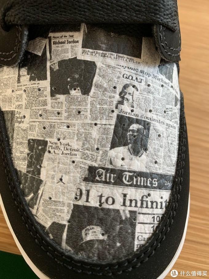 把报纸印到鞋子上?Aj1 mid gs款 报纸开箱