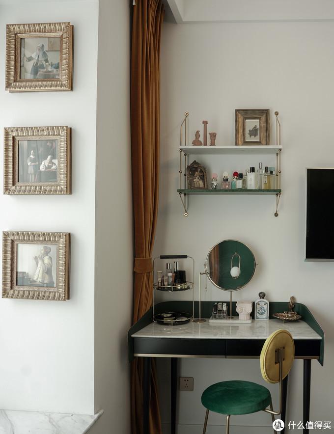 △梳妆台:壹间家居/置物架:集木室务所/镜子:Zara Home