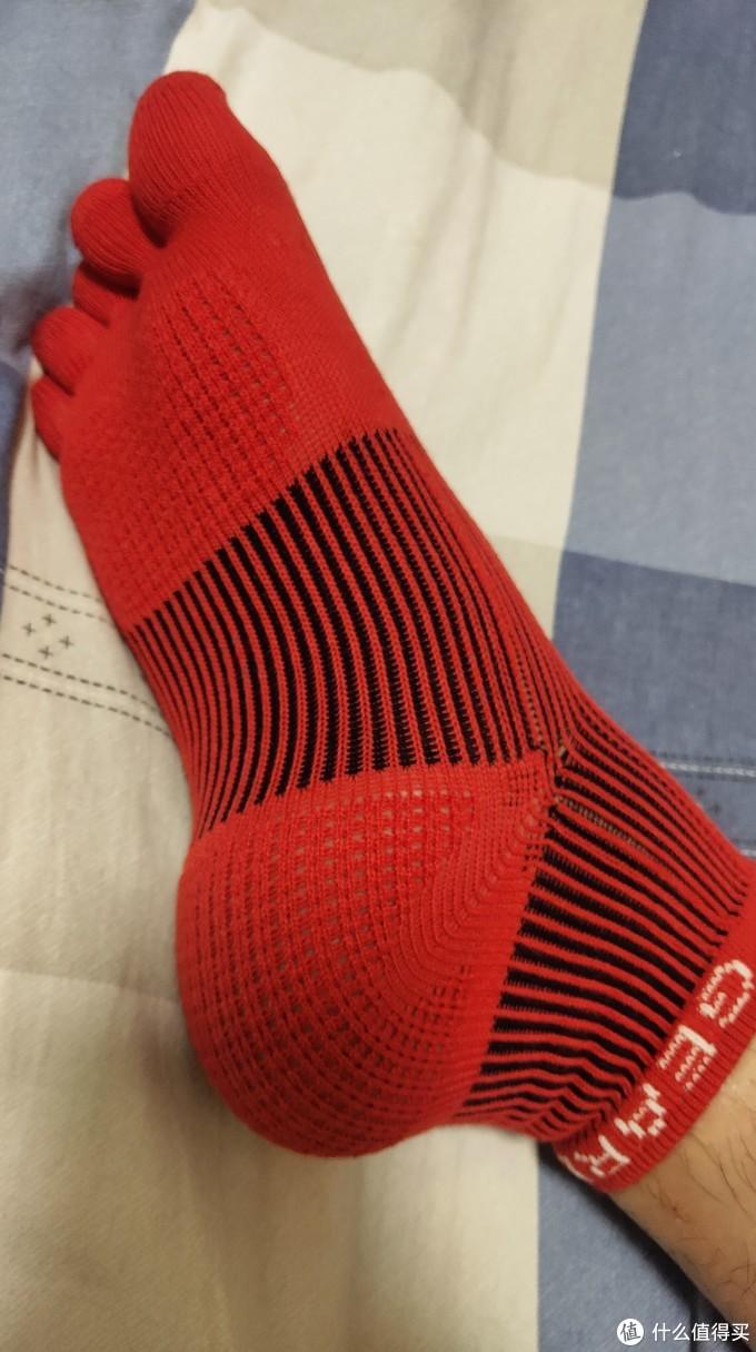 秋日冷空气里的一缕暖流!爱燃烧发热纱3D五指压缩袜