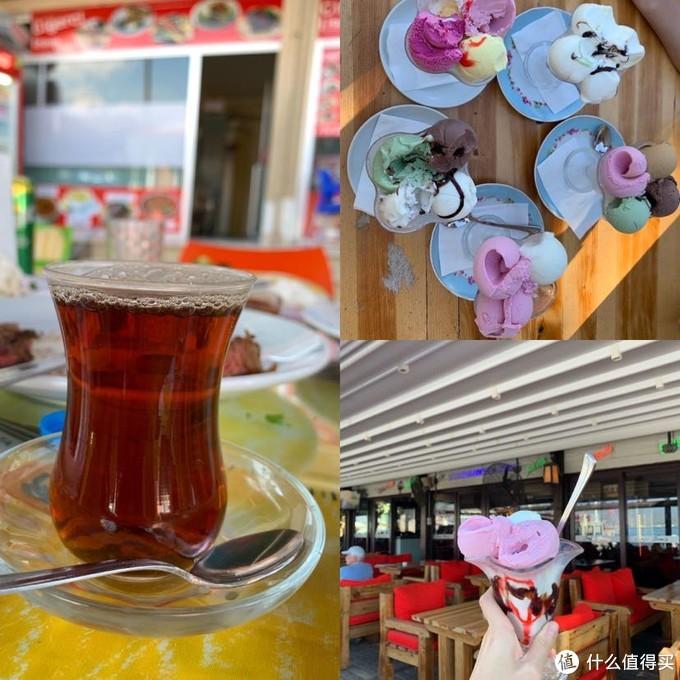午餐赠送的红茶,与下午茶冰淇淋,冰淇淋18里拉一杯