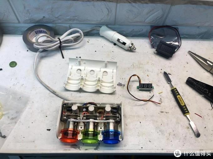 从左到右 一拖三本体 0.28寸电压显示3块5包邮 撬棒
