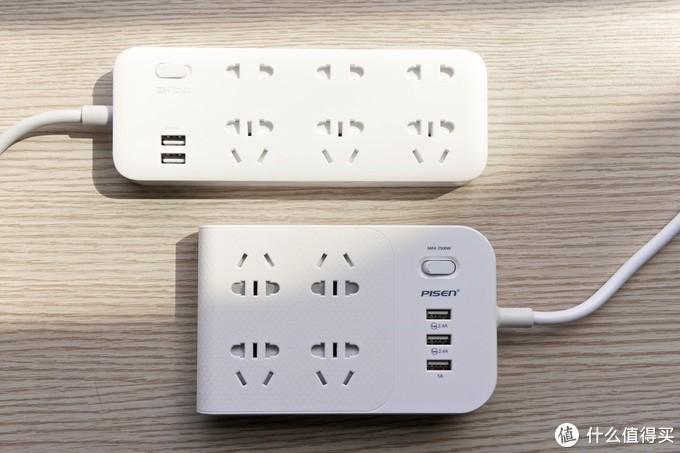 墙插不够用,手机充电肿么办?2款延长插座横向小评