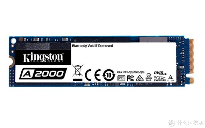 5年质保、送Tt散热片:Kingston 金士顿 A2000 M.2 SSD上架预售,256GB/512GB/1TB可选