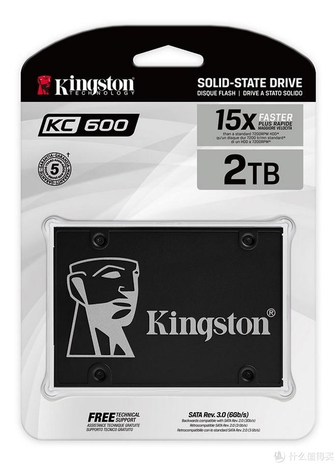 5年质保、最高2TB:Kingston 金士顿 发布 KC600 系列 SSD固态硬盘