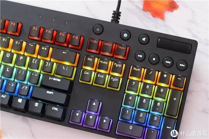 多彩键帽,颜高手感好,罗技G610彩色键帽机械游戏键盘