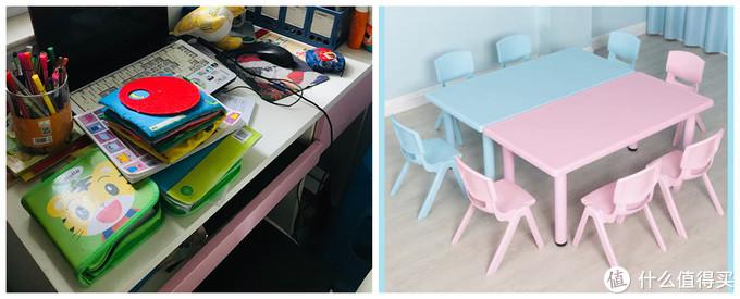 这是家里的两张桌子,请无视杂乱的桌面~~