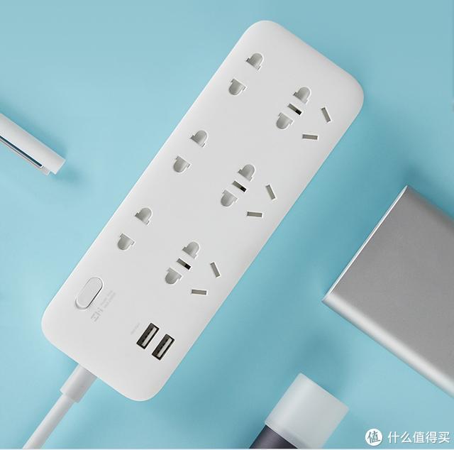 小米生态链推出新品,紫米新国标6孔位插线板,双11家居必备