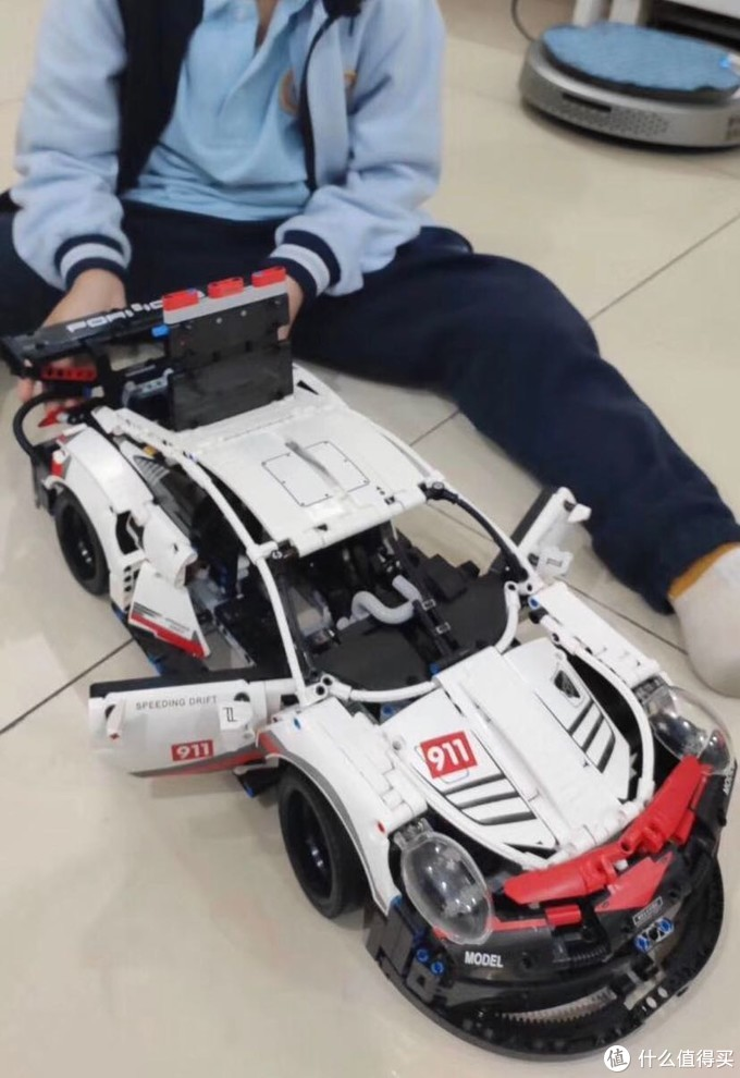 保时捷911积木跑车玩具开箱试玩