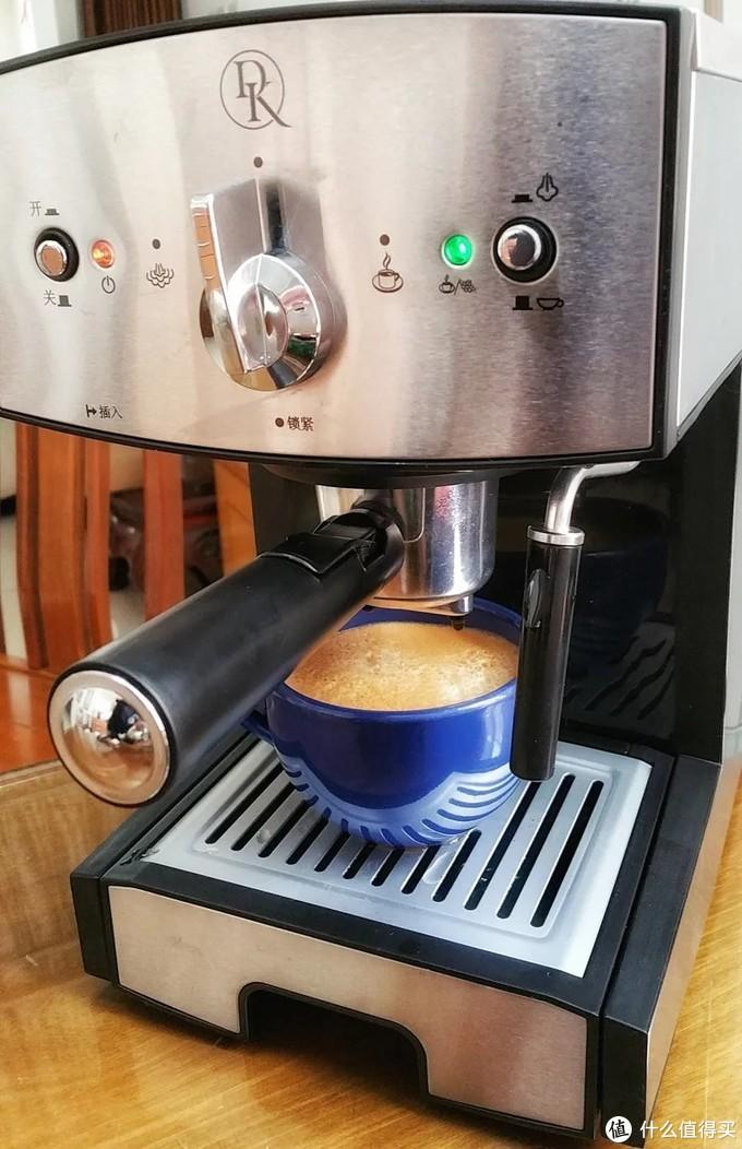 D&K一台可以出咖啡油脂crema的家用咖啡机