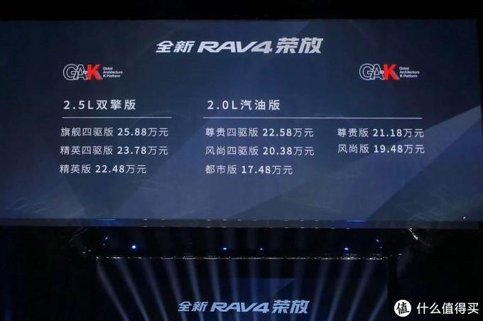 新车速递:一汽丰田全新RAV4荣放上市