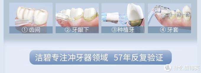 洁碧WP-660冲牙器能适应各种口腔护理需求