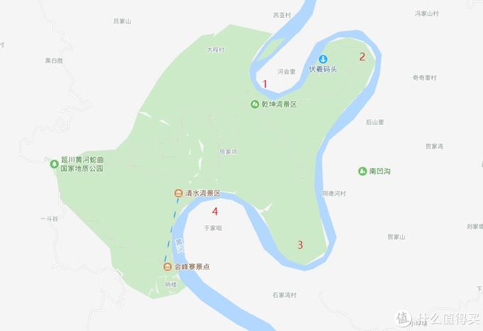 乾坤湾处的黄河四曲