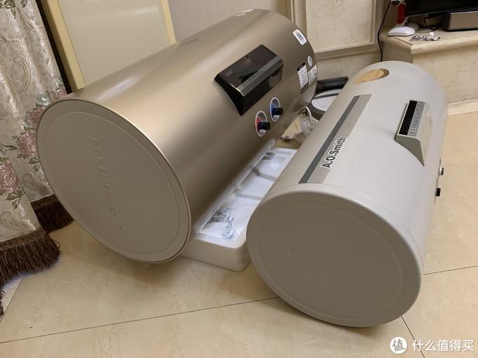 新旧A.O.史密斯电热水器的对比:新彩钢很时髦啊