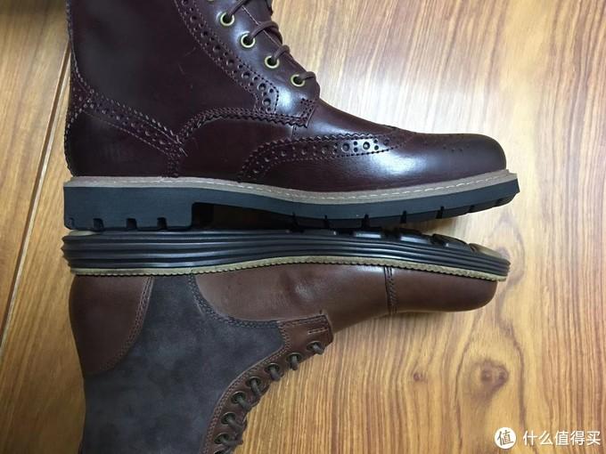 长短clarks长一丢丢,鞋底子差不都厚度。