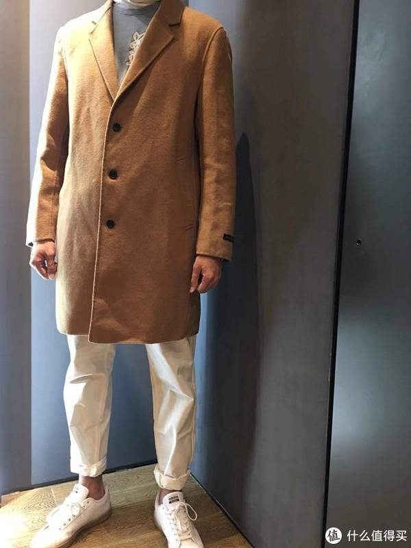 秋日的温暖——羊绒混纺手缝大衣晒单~