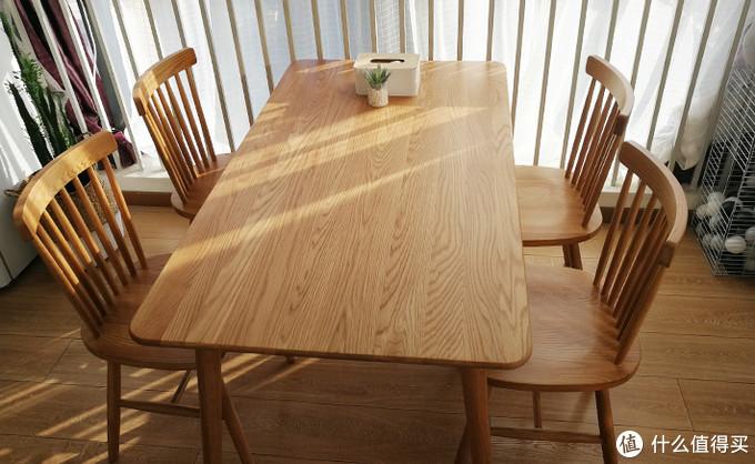 惊喜实物开箱!初海北美FAS级白橡木餐桌收货惊喜!