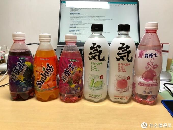 比较的7款饮料