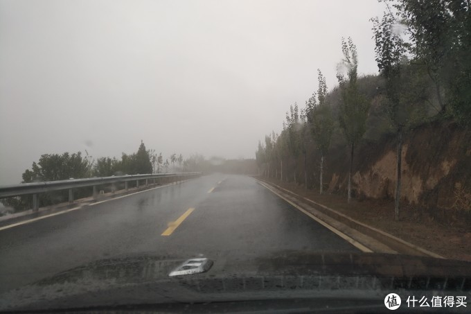 一直在大雾大雨中行车